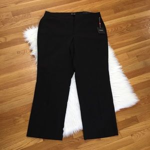 Rafaella Curvy Black Trouser Pants
